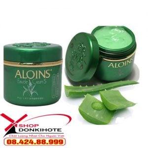 Kem dưỡng da toàn thân lô hội Aloins Kem Xanh Aloins của Nhật lại sử dụng phù hợp với mọi loại da