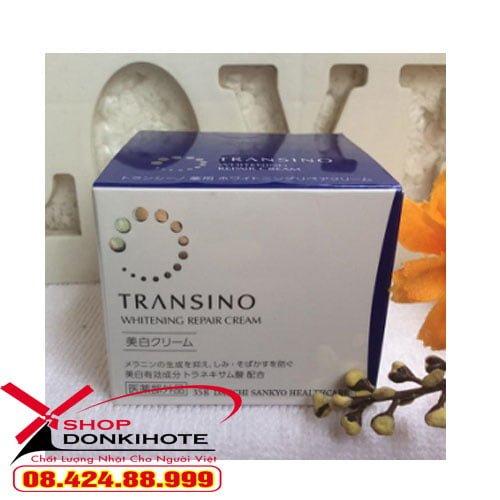 Kem Đêm Trị Nám Transino Whitening Repair Cream 35g đặc trị mảng nám, tàn nhang, đồi mồi,