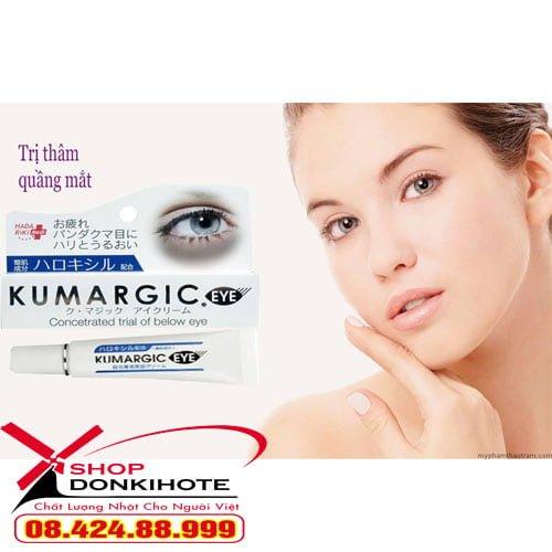 Kem trị thâm quầng mắt Cream Kumargic Eye 20g Nhật Bản Điều trị thâm quầng mắt, bọng mắt, sưng mắt hiệu quả