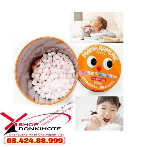 Kẹo chống biếng ăn Mama ramune Nhật Bản chính hãng giá rẻ tại donkivn.com