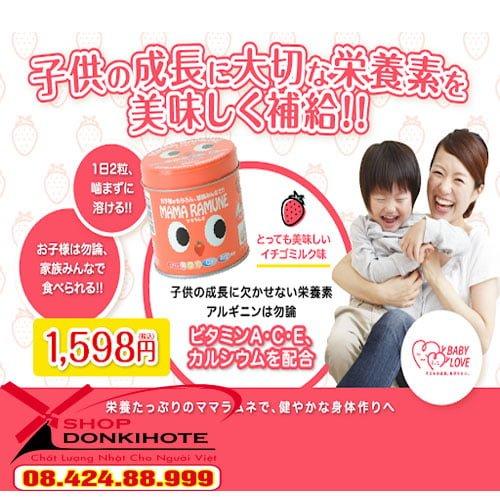 Kẹo chống biếng ăn Mama ramune mua ở đâu chính hãng?
