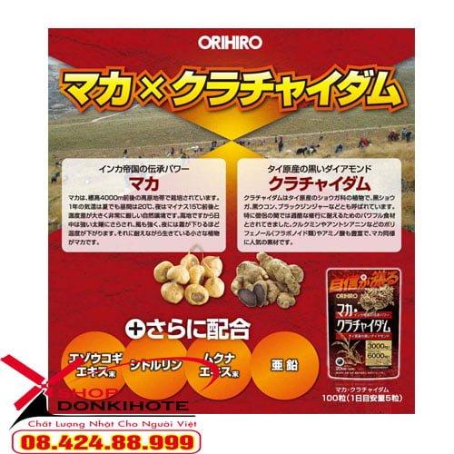 ORIHIRO BỔ SUNG Maka Krachaidum Nhật Bản là sản phẩm cải thiện sinh lý cho nam