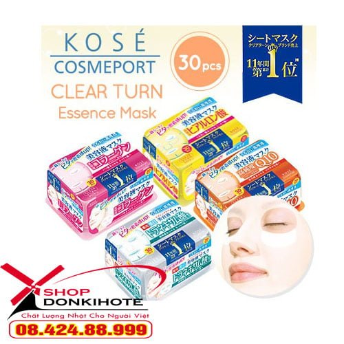 Mặt nạ giấy Kose Cosmeport Nhật Bản là sản phẩm nằm trong TOP các sản phẩm mặt nạ bán chạy tại Nhật
