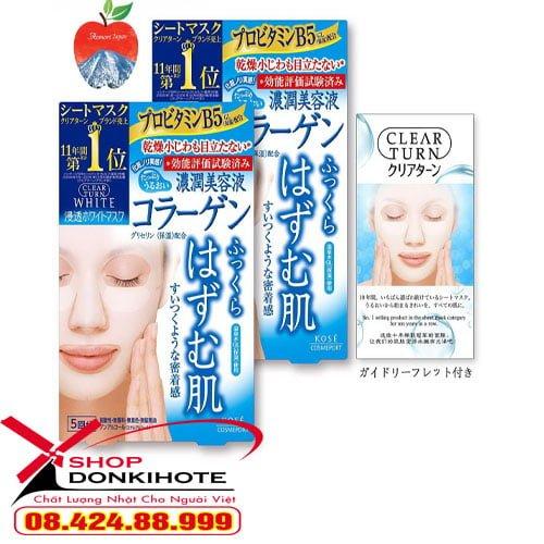 Mặt nạ giấy dưỡng da Kose Cosmeport Nhật Bản có ba loại cấp ẩm, dưỡng trắng và chống lão hóa
