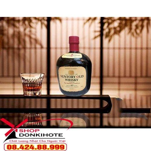 Sản phẩm rượu Suntory Old Whisky 700ml Nhật Bản đảm bảo 100% chính hãng tại Donkivn
