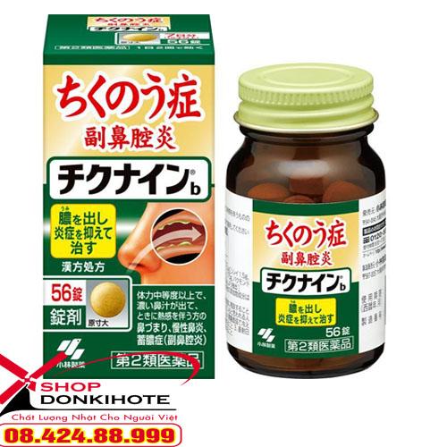 Thuốc đặc trị viêm xoang Chikunain 56 viên Nhật Bản giúp các bạn giải quyết được các triệu chứng khó chịu mà viêm xoang gây ra