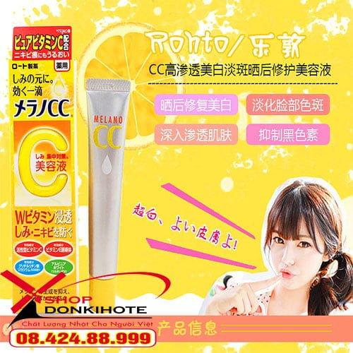 Hướng dẫn sử dụng Serum Vitamin C Melano Cc Rohto Nhật Bản hiệu quảHướng dẫn sử dụng Serum Vitamin C Melano Cc Rohto Nhật Bản hiệu quả