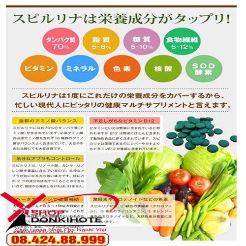 Tảo cao cấp Spime cho trẻ biếng ăn Nhật Bản có chứa nhiều thành phần rau củ quả tự nhiên