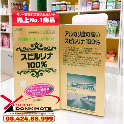 Tảo xoắn 2200 viên của Nhật có tác dụng thải độc và giảm cholesterol trong máu