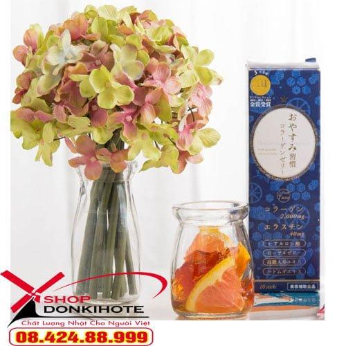 Thạch collagen oyasumi shukan hộp 10 gói của Nhật Bản chính hãng giá rẻ tại donkivn shop