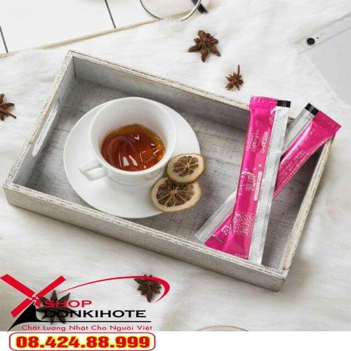 Thạch collagen oyasumi shukan hộp 10 gói của Nhật Bản là sản phẩm giúp bổ sung thêm nhiều collagen,
