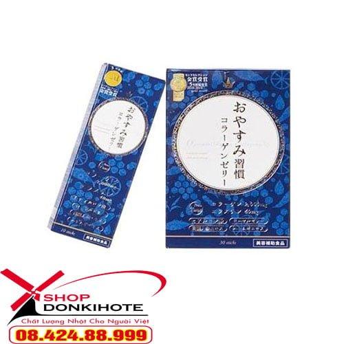 Hướng dẫn cách sử dụng Thạch collagen oyasumi shukan hộp 10 gói Nhật Bản