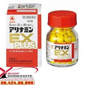 Chiết xuất hoàn toàn từ tự nhiên thuốc bổ xương khớp Nhật Bản Arinamin EX Plus 120 Viên Nhật Bản