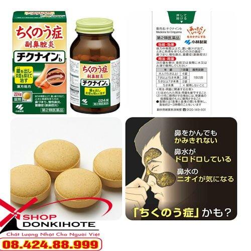 Nên sử dụng sản phẩm thuốc Chikunain 56 viên nhật bản đặc trị viêm xoang đều đặn hàng ngày
