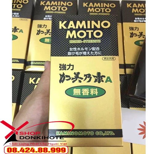 Thuốc Kaminomoto Higher Strength kích thích mọc tóc, trả lại cho bạn mái tóc bồng bềnh, đầy tự tin