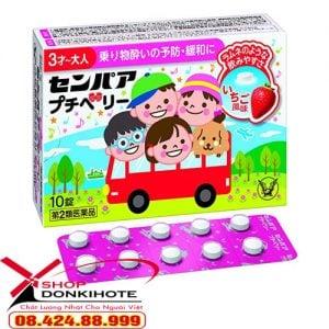 công dụng Thuốc say tàu xe vị nho Senpaa petit của Nhật