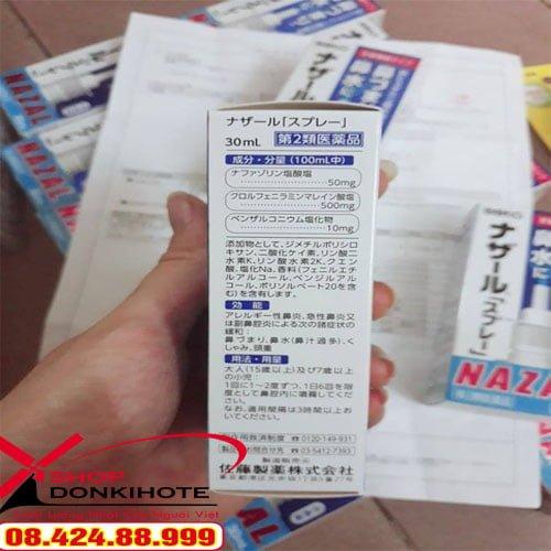 Thuốc xịt mũi Nazal Nhật Bản 30ml Nhật Bản hỗ trợ bệnh nhân bị viêm xoang