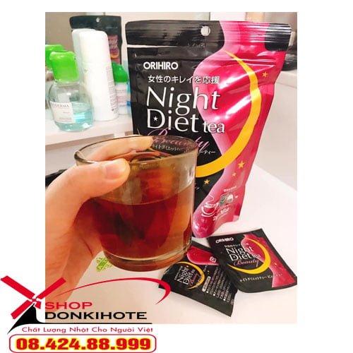 Mua trà giảm cân đẹp da Night Diet Tea Collagen ở đâu tại Sài Gòn