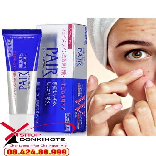 Tác dụng tuyệt vời Kem Lion Pair Acne W Cream 24gr Trị Mụn cho làn da, giúp sạch mụn, kháng khuẩn