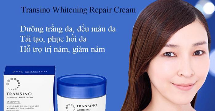 Kem Đêm Trị Nám Transino Whitening Repair Cream 35g phục hồi tái tạo làn da