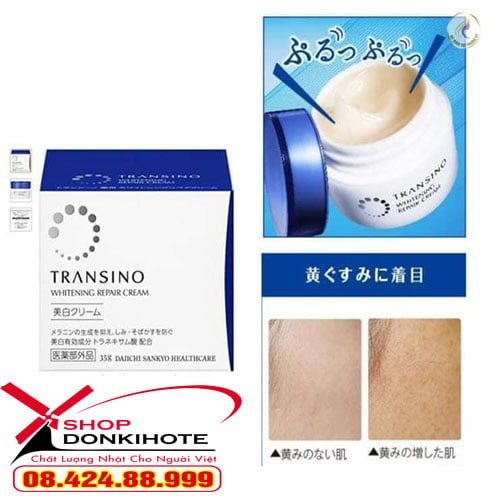 Kem Đêm Trị Nám Transino Whitening Repair Cream 35g giá cạnh tranh tại donkivn.com
