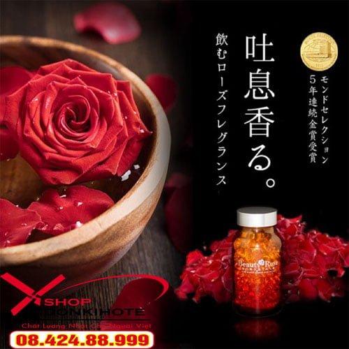 Cách dùng của viên uống thơm Beauty Rose Crystal của Nhật Bản