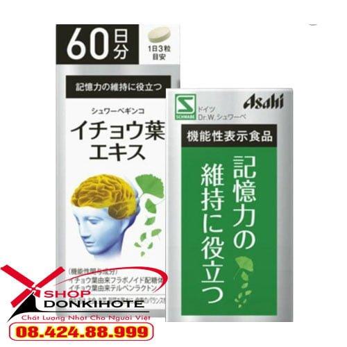 Viên uống bổ não Ginkgo Asahi của Nhật