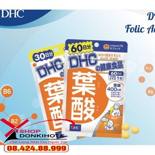 Viên uống DHC Axit Folic cho mẹ bầu