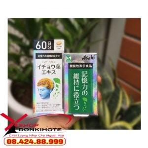 Viên uống Ginkgo Asahi bổ não của Nhật