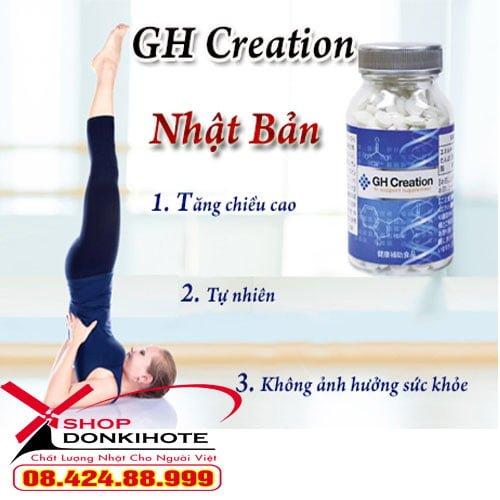 Viên uống GH Creation Nhật Bản bạn nên mua tại donkivn.com để được sản phẩm chính hãng và giá cạnh tranh