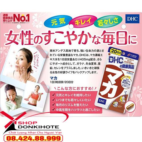 Viên uống Maca DHC 20 ngày của Nhật có tốt không