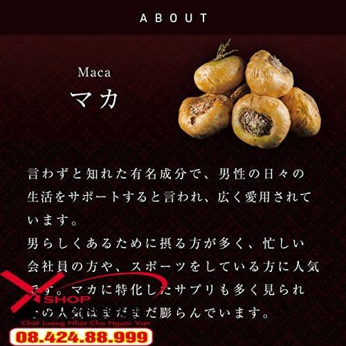 Viên uống Tỏi đen Asahi Maka – Nhật Bản còn chứa các loại vitamin