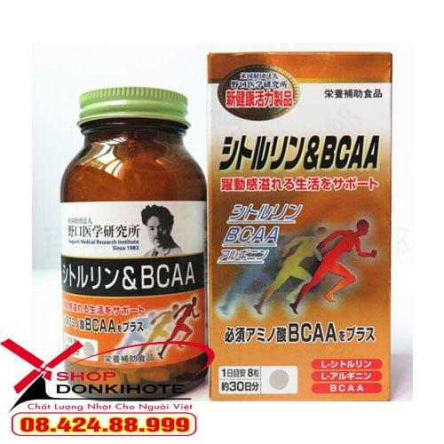 Viên uống tăng cơ, giảm mỡ Citrulline & BCAA Noguchi Nhật Bản