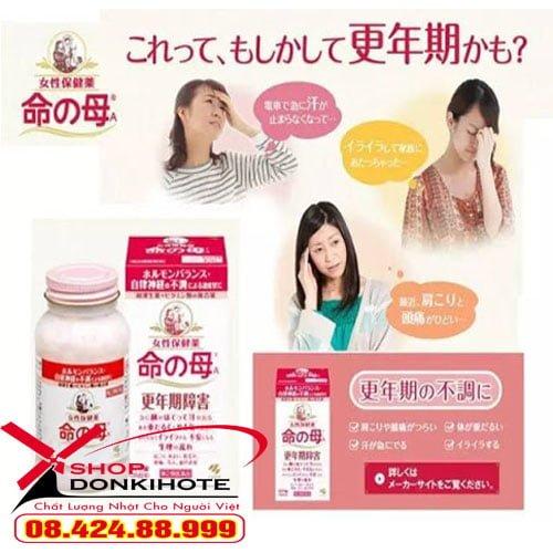 Viên uống mãn kinh Kobayashi của Nhật 840 viên giúp hỗ trợ điều trị các rối loạn cân bằng nội tiết tố