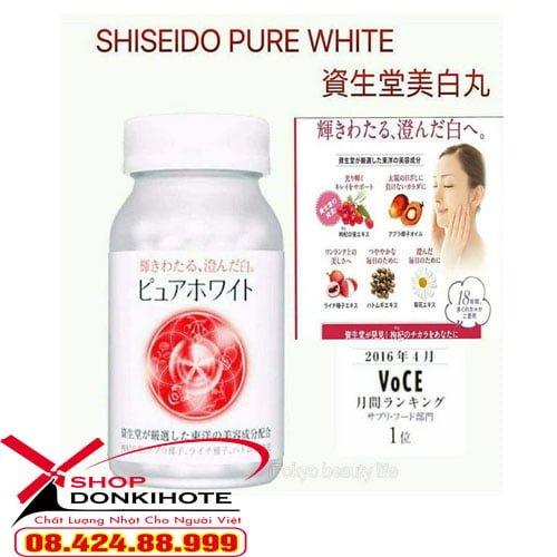 Shiseido pure white dạng viên là sản phẩm làm trắng da, trị nám cao cấp của Nhật Bản.