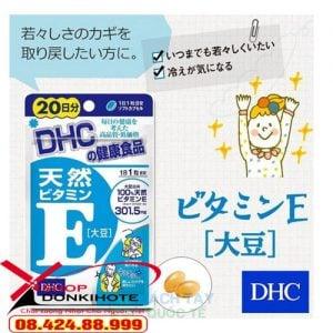 Viên uống Vitamin E DHC được điều chế từ dầu thực vật có từ tự nhiên