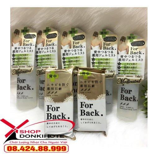 Xà phòng For Back 135g Nhật Bản trị mụn lưng là dòng chuyên dụng để đặc trị mụn lưng