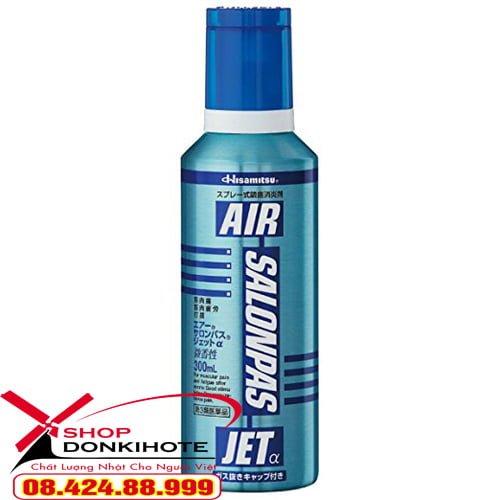 Chai xịt giảm đau Salonpas Air Jet Hisamitsu 300ml nhật bản