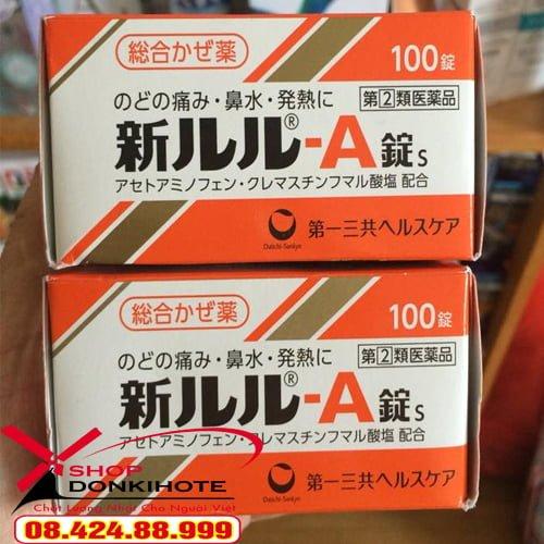 hướng dẫn sử dụng thuốc cảm cúm LULU A hộp 100 viên của nhật