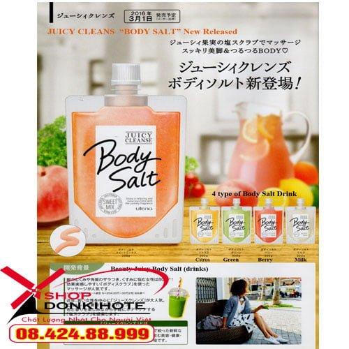 Bộ muối tắm Body salt tẩy tế bào chết của Nhật