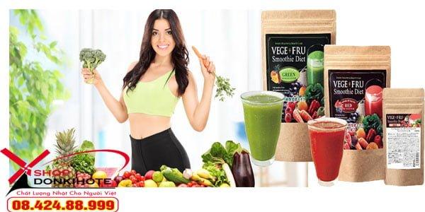 Giảm cân nhờ bột rau củ Vege fru smoothie diet