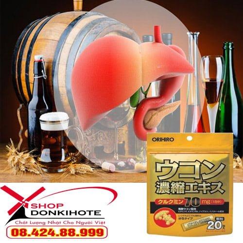 Bột nghệ giải rượu orihiro bảo vệ lá gan của bạn