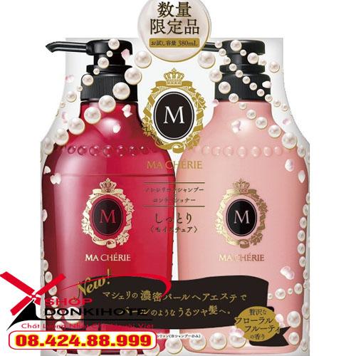 Cặp dầu gội và xả Shiseido Macherie 380ml Nhật Bản
