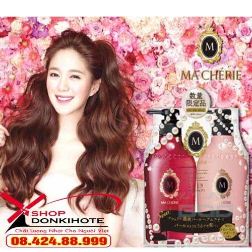 Cặp dầu gội và xả Shiseido Macherie 380ml của Nhật