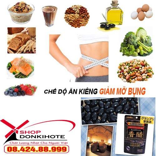 Chế độ ăn kiêng giảm mỡ bụng kết hợp Dấm giảm cân orihiro