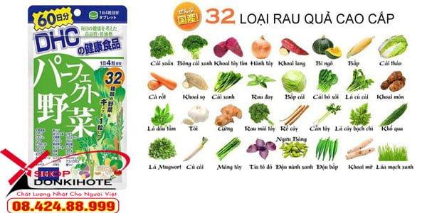 Viên uống 32 loại rau củ quả DHC