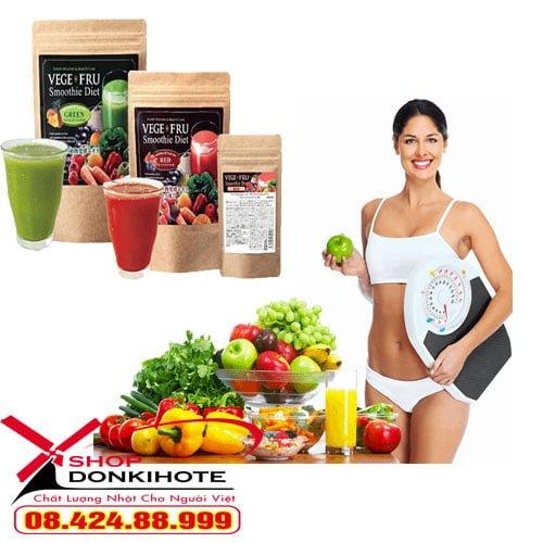 Bột giảm cân rau củ Vege Fru Smoothie Diet tại Cần Thơ
