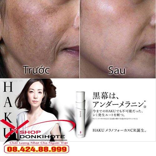 Hiệu quả sau khi dùng Haku Nhật Bản