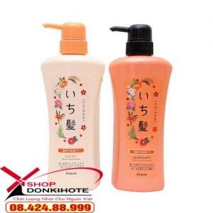 Cặp dầu gội và xả Ichikami màu cam nhật bản phục hồi tóc hư tổn