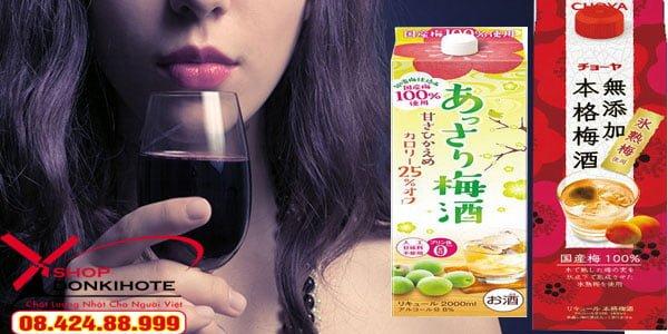 Rượu mơ choya Nhật Bản 1.8 lít hộp giấy